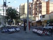 The BiciQ station at La Mariscal
