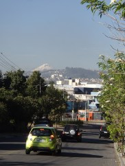 An awesome view of Cotopaxi during my morning commute