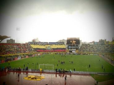 Ecuador and Uruguay warming up in the rain