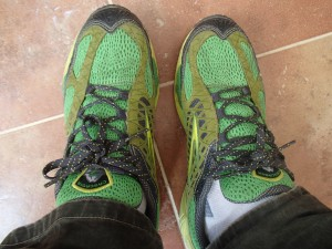I try to keep my feet comfortable while travleing with my favorite running shoes