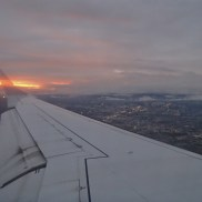 A rare sunset as I was arriving in Quito from Loja
