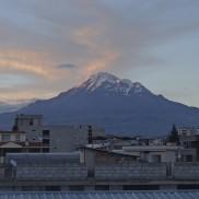 An amazing view of Chimborazo from my hostel in Riobamba