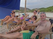 Day one - relaxing with Gaby and some of her friends from work