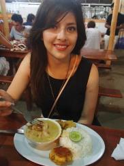 NYE meal of encocado de camaron
